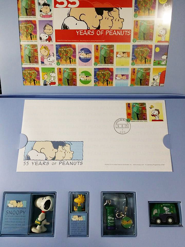 Hong Kong Stamp Collection Set Charlie Brown Cafe Singapore