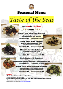 Taste of the Seas A4