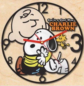 charlie-snoopy-wall-clock