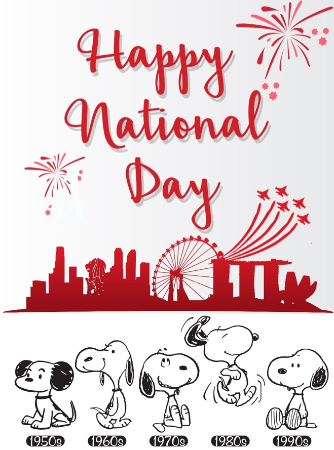 Snoopy Celebrates Singapore National Day 2017 | Charlie ...